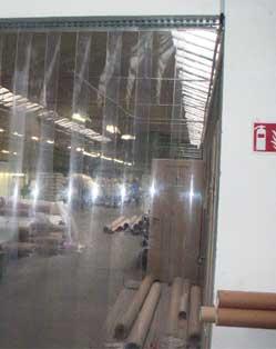 Portes souples - Rideaux à lanières transparentes