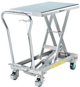Tables l vatrices inox hydrauliques manuelles - Table verin hydraulique ...
