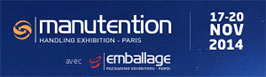 Manutention, emballage Paris 2014